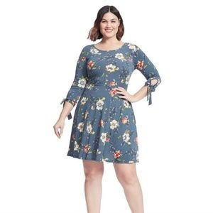 GILLI Floral Fit and Flare Dress